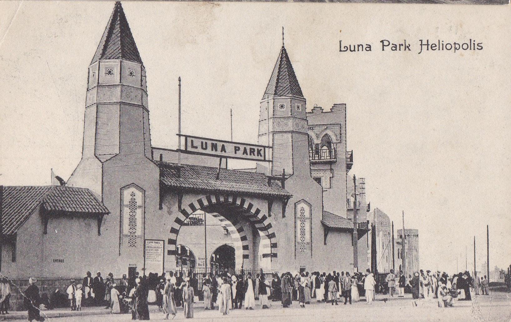 Postcards Heliopolis – Carte Postalle Universelle – Lunapark B/W (ca 1912)
