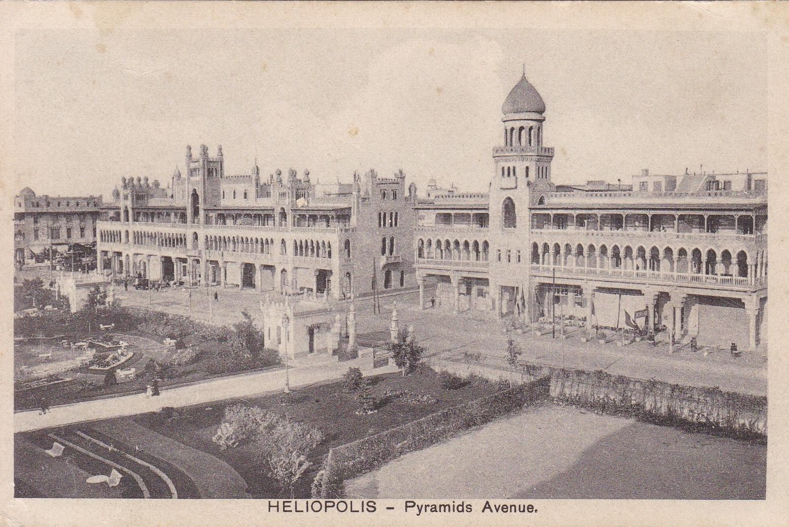 Postcards Heliopolis – Cairo Postcard Trust Serie 634  (black titles) ca 1918