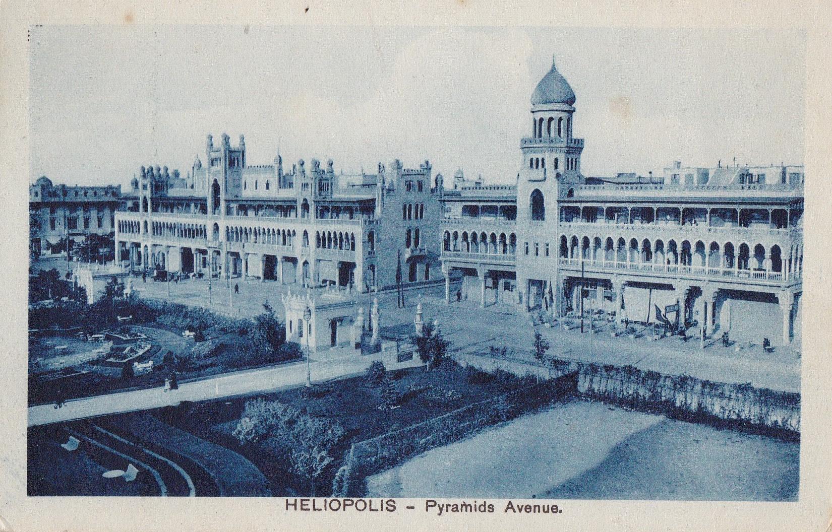 Postcards Heliopolis – Cairo Postcard Trust – serie 605 – blue -1914